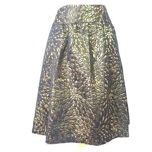 Lane Bryant Womens Gold metalic  Skirt